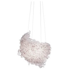 Supernova Chandelier in Transparent Resin by Jacopo Foggini