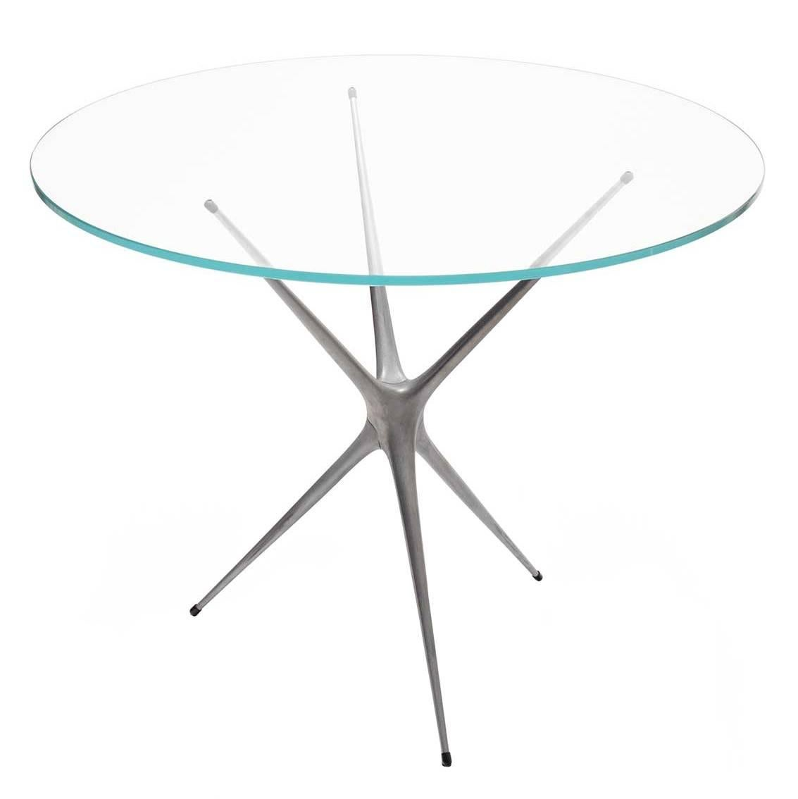 Supernova, Recycled Cast Aluminum Contemporary Table Leg in Raw by Made in Ratio