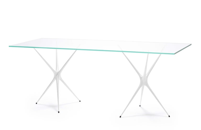Supernova, Recycled Cast Aluminum & Glass Desk in Black by Made in Ratio For Sale 3