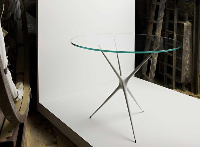 Supernova, Recycled Cast Aluminum Table Leg in Seagreen by Made in Ratio For Sale 8