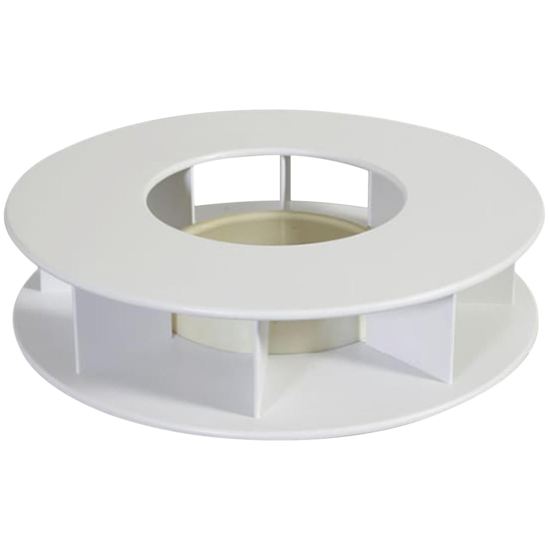 Superstudio Baazar Round White Table with Light for Giovannetti, Italy, 1968