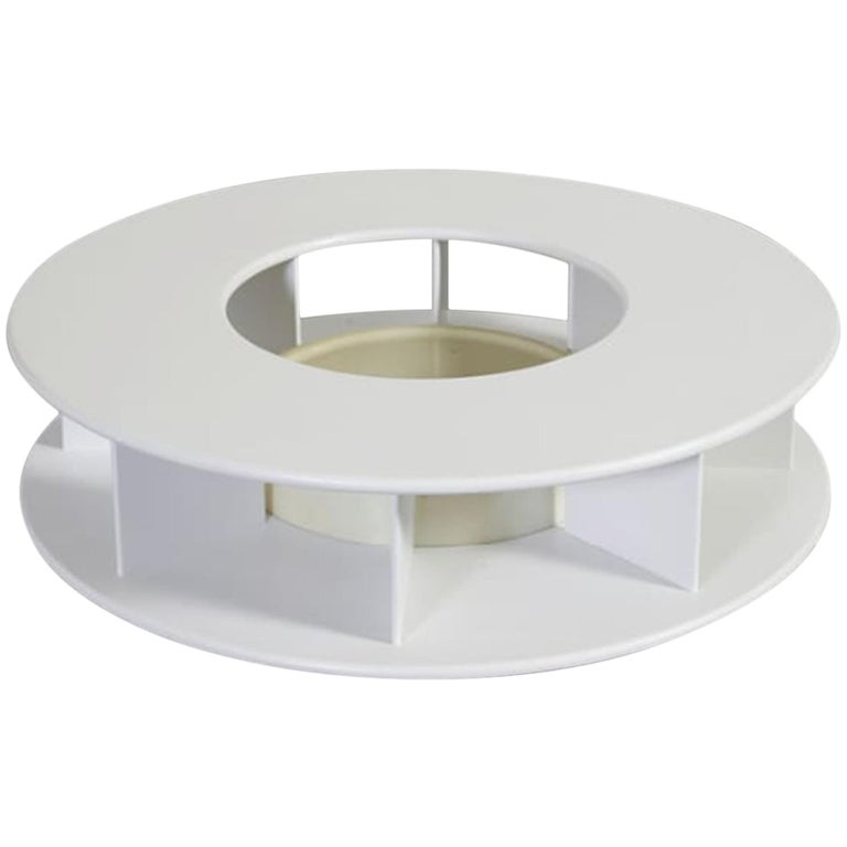 Superstudio Baazar Round White Table with Light for Giovannetti, Italy, 1968 For Sale