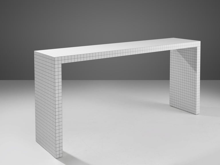 Superstudio for Zanotta, console table 'Quaderna', Italy, designed 1969  The Italian architecture and design group Superstudio (founded in 1966 by Adolfo Natalini and Cristiano Toraldo di Francia) published a catalogue with from architecture