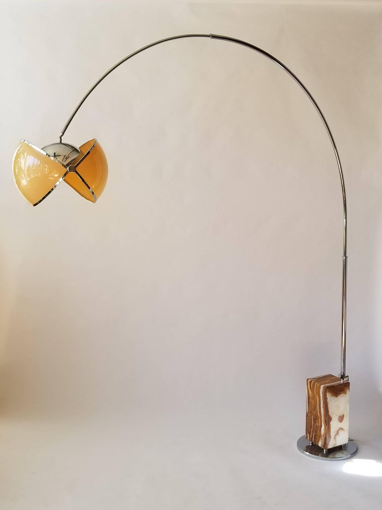 Huge Arch Floor Lamp In The Style Of Superstudio Circa 1970 Italia For Sale At 1stdibs