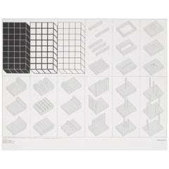 Superstudio Lithograph Istogrammi d'architettura 466/500, Italy, 1969