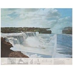 "Superstudio Lithograph ""Niagara o l'architettura riflessa"", 1970"