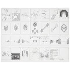 """Superstudio Lithograph """"Un viaggio nelle ragioni della ragione"""", Italy, 1970"""