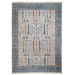 Supple Collection with Tree Design Soft Wool Hand Knotted Oriental Rug