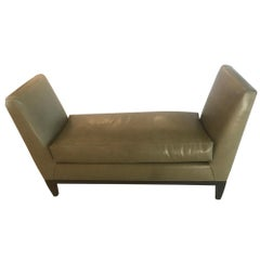 Supple Two Armed Leather Bench
