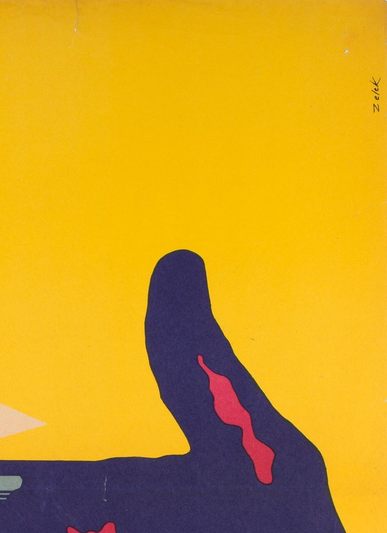 20th Century Support Your Local Sheriff, Original Polish Film Poster Bronislaw Zelek, 1969 For Sale