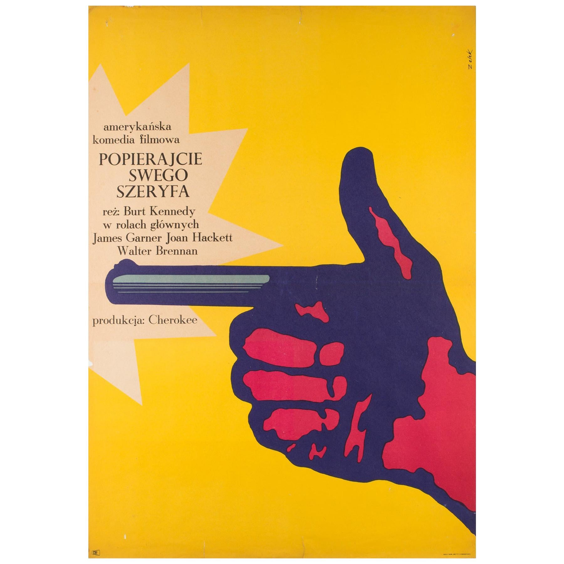 Support Your Local Sheriff, Original Polish Film Poster Bronislaw Zelek, 1969