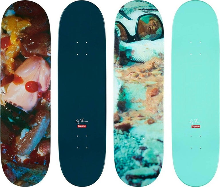 Cindy Sherman Supreme skateboard decks, 2017, offered by Lot 180