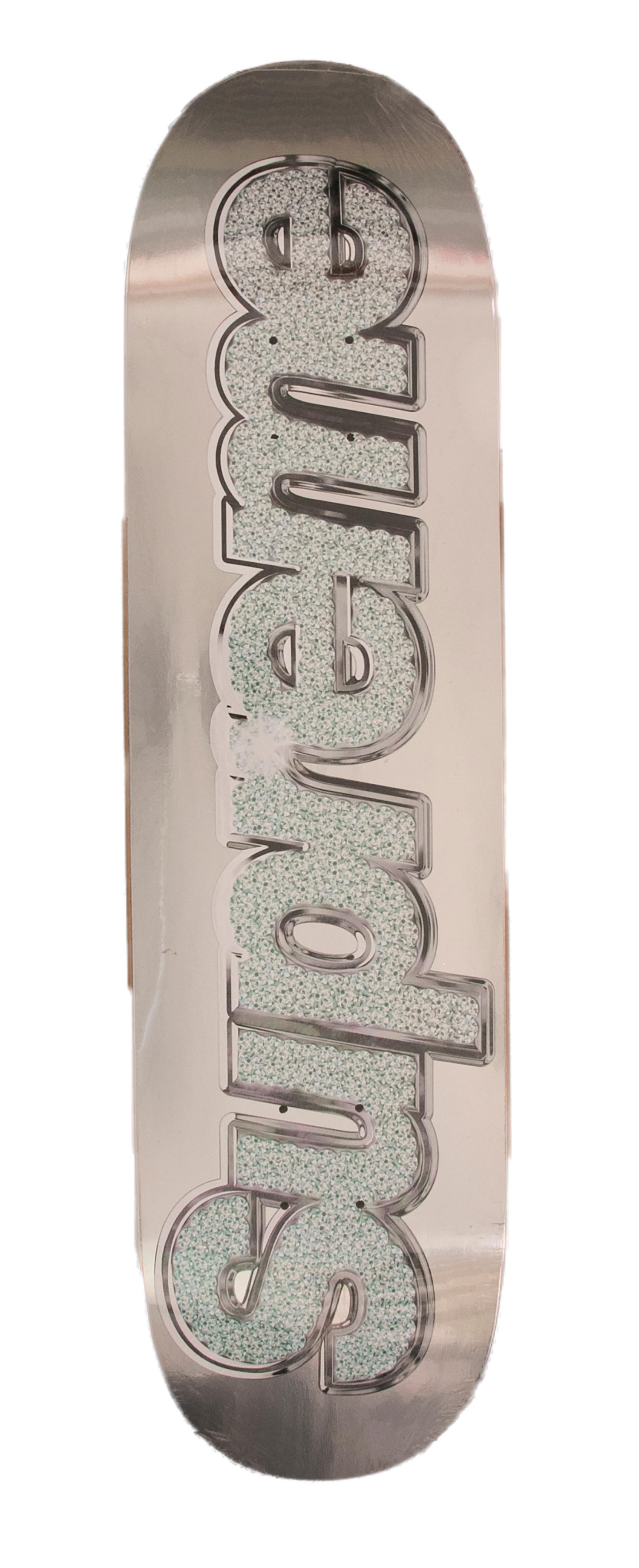 Supreme Bling Skateboard Deck Silver - Year 2013