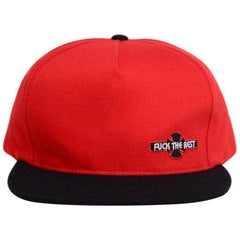 """Supreme x Independent Red/Black """"Fuck The Rest"""" Cap"""