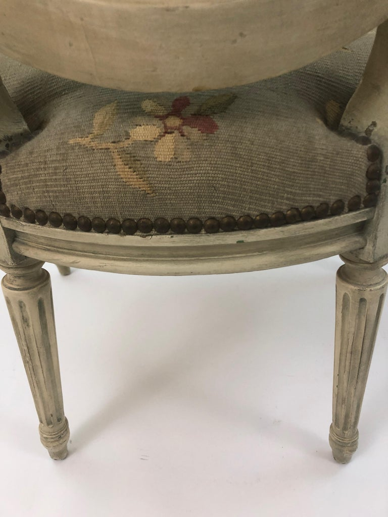 Supremely Pretty Louis XVI Style French Fauteuil Armchair For Sale 13
