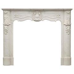 Suprising Antique Louis XV Fireplace Mantel