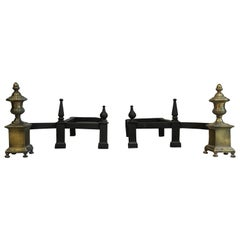 Supurb Set of Antique Andirons / Firedogs