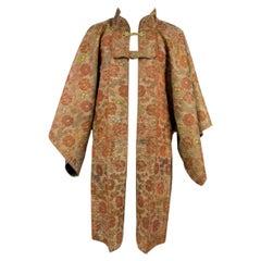 Surcoat Jinbaori for a Japanese dignitary in lampas silk- Japan Edo early 19th c