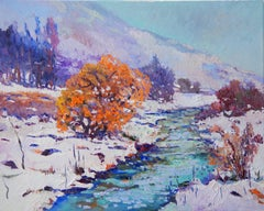 Winter Landscape with Orange Tree