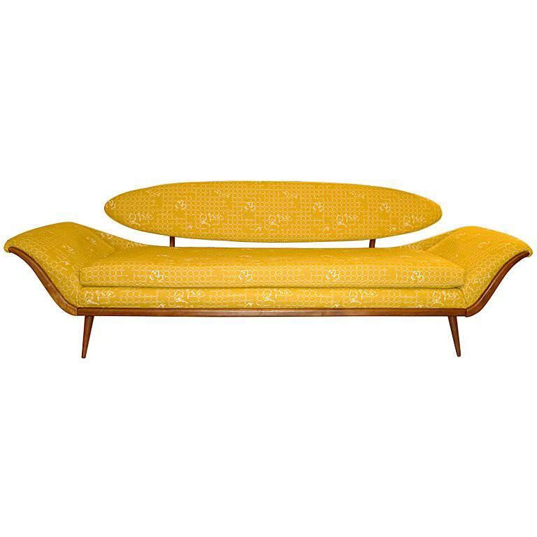 Surfboard-Back Gondola Sofa For Sale