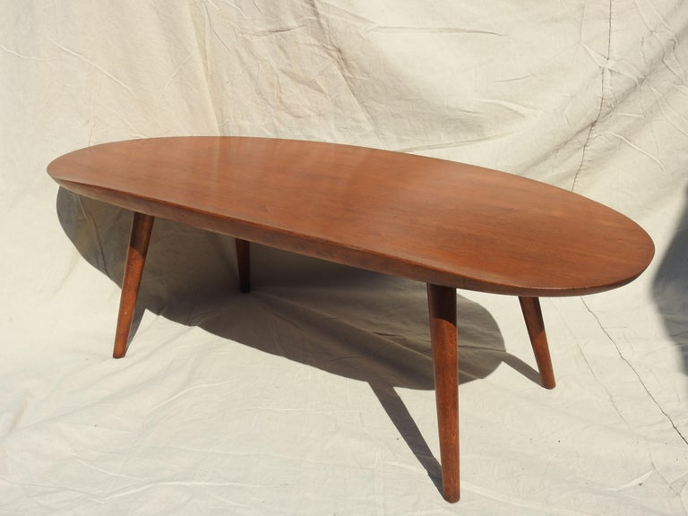 Woodwork Surfboard Coffee Table by Russel Wright For Sale