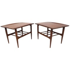 Surfboard End Tables by Bassett Furniture Co., a Pair