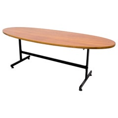 Surfboard Teak Coffee Table, 1950s