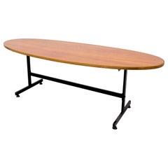 Surfboard Teak Coffee Table, 1950s