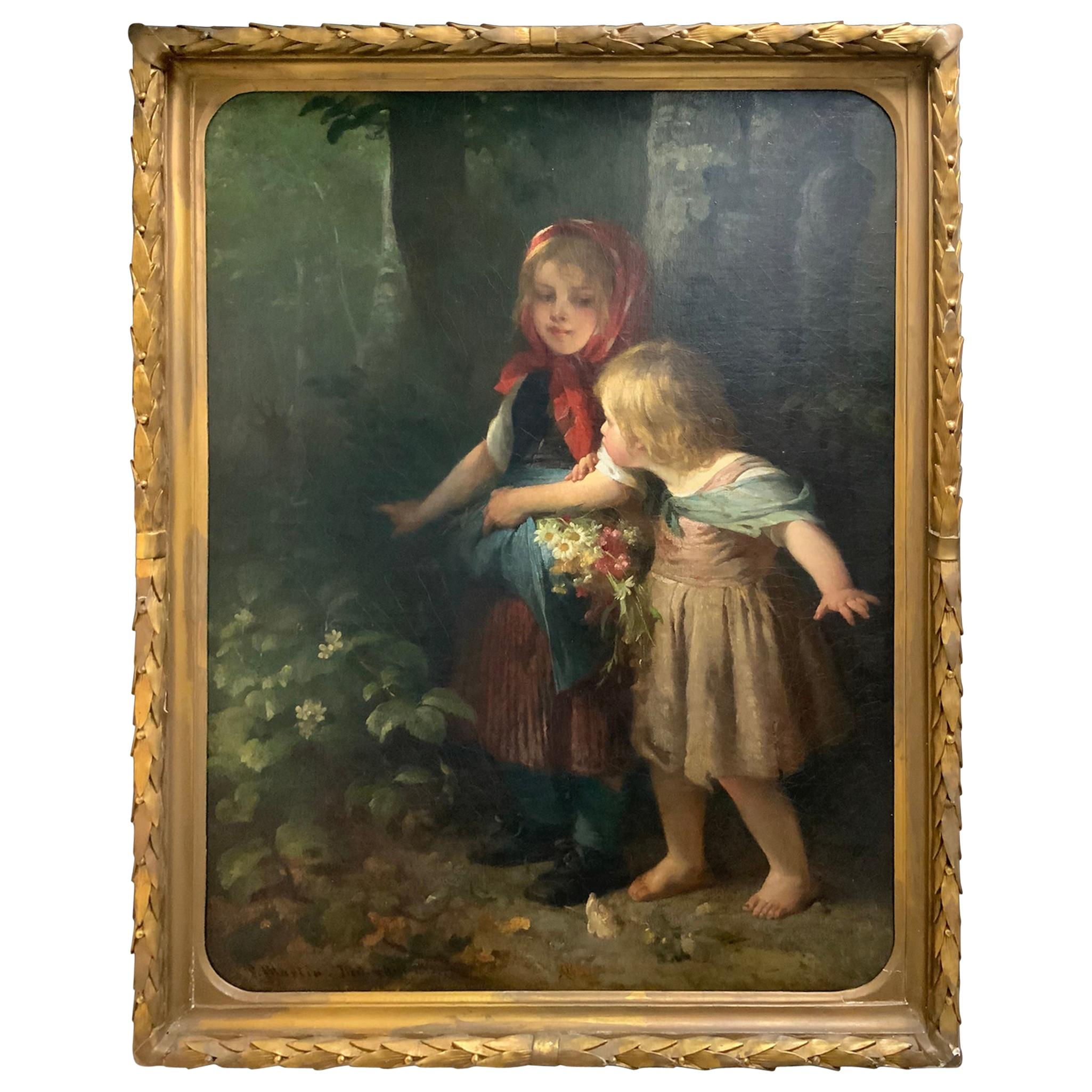 Surprise in the Woods by S. Martin Painting