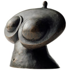 Surrealist Bronze Female Nude Abstract Sculpture, Mid 20th Century