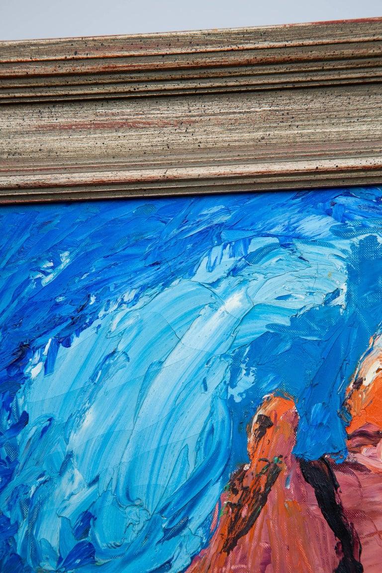 American Surrealist Castle Rock Oil Painting For Sale
