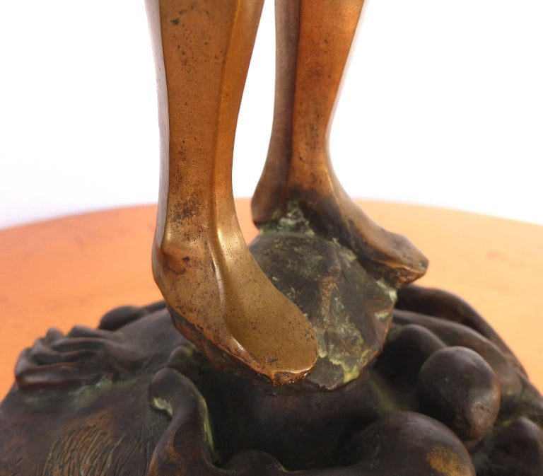 Surrealist Figurative Bronze Signed Zuñiga and Dated, 1977 For Sale 4