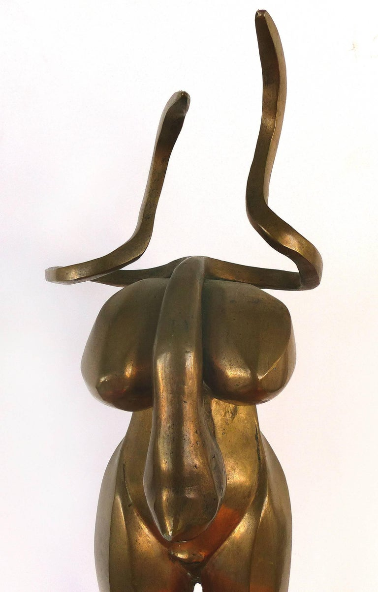 Late 20th Century Surrealist Figurative Bronze Signed Zuñiga and Dated, 1977 For Sale