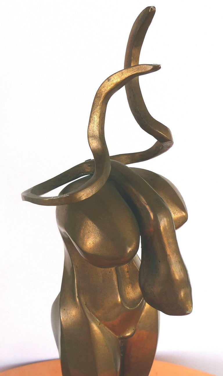 Surrealist Figurative Bronze Signed Zuñiga and Dated, 1977 For Sale 1