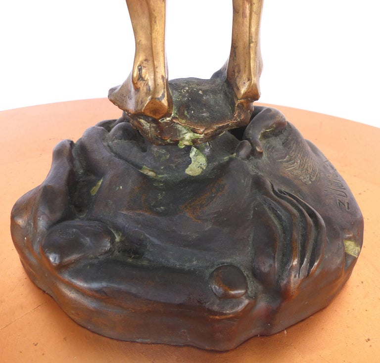 Surrealist Figurative Bronze Signed Zuñiga and Dated, 1977 For Sale 3