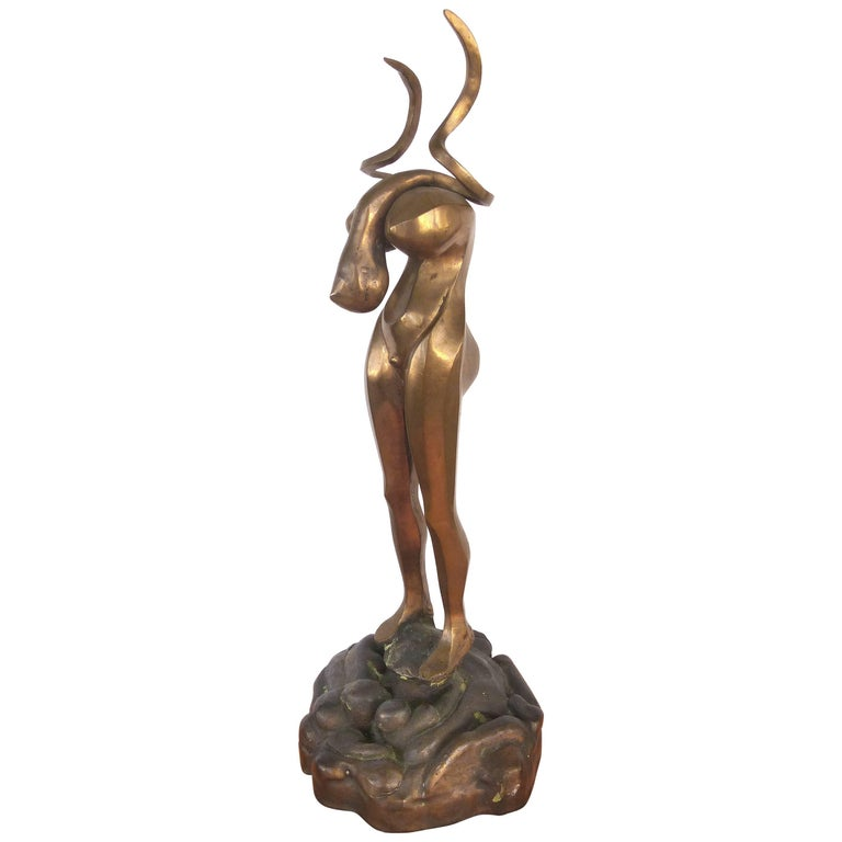 Surrealist Figurative Bronze Signed Zuñiga and Dated, 1977 For Sale
