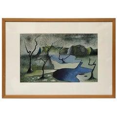 Surrealist Landscape Signed Rothbart