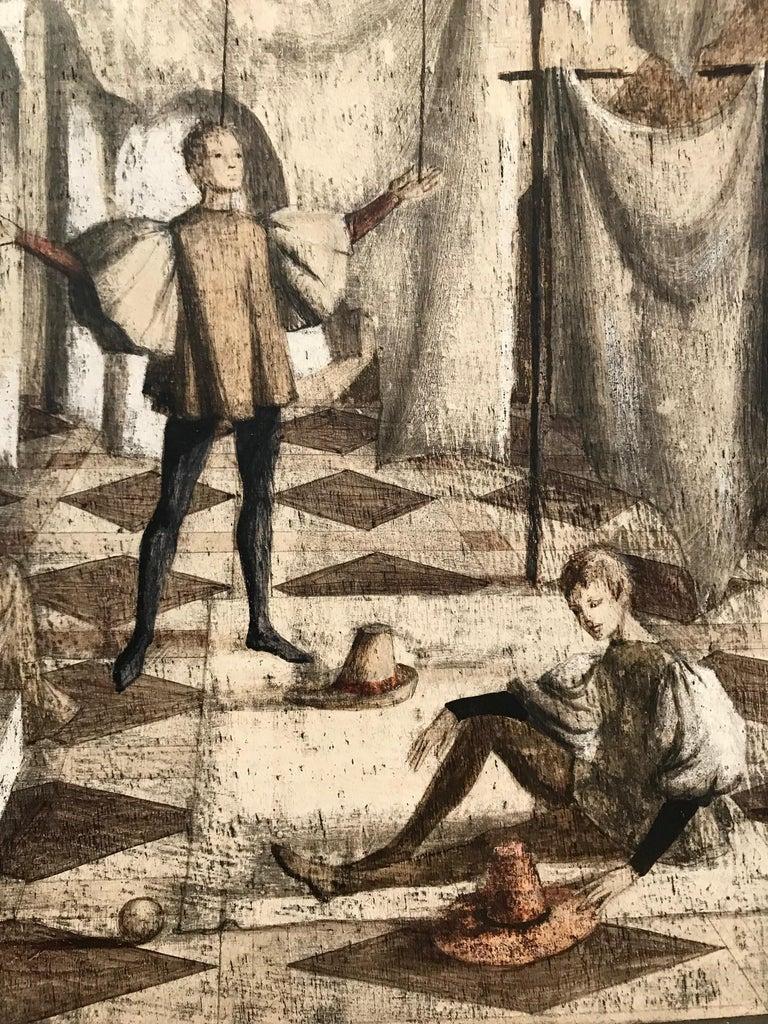 Mid-20th Century Surrealist Painting