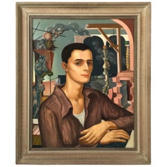 Surrealist Portrait of Androgynous Figure by William Hugh Ferguson, 1935