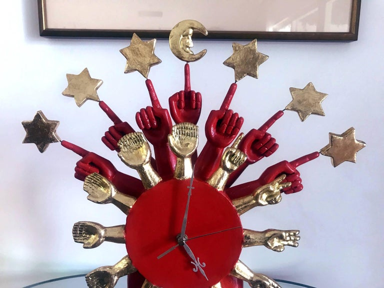 Modern Surrealistic Sculptural Clock by Pedro Friedeberg For Sale