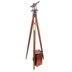 Surveyor's Transit and Tripod by C. L. Berger & Sons