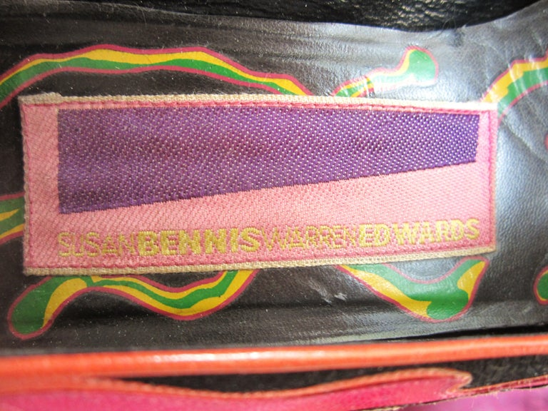 Susan Bennis Warren Edwards POP POWER Leather Suede Pump Shoes Pop Art  For Sale 2