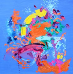 Bright Garden Day. Contemporary Abstract Expressionist Painting