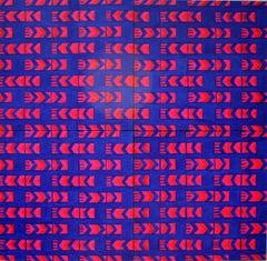 Palindrome.  Large Mixed Media Abstract Painting