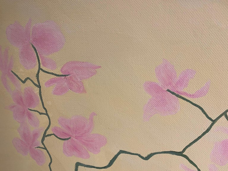 Tumbling Down. Contemporary Still Life Oil Painting - Beige Still-Life Painting by Susan Bleakley