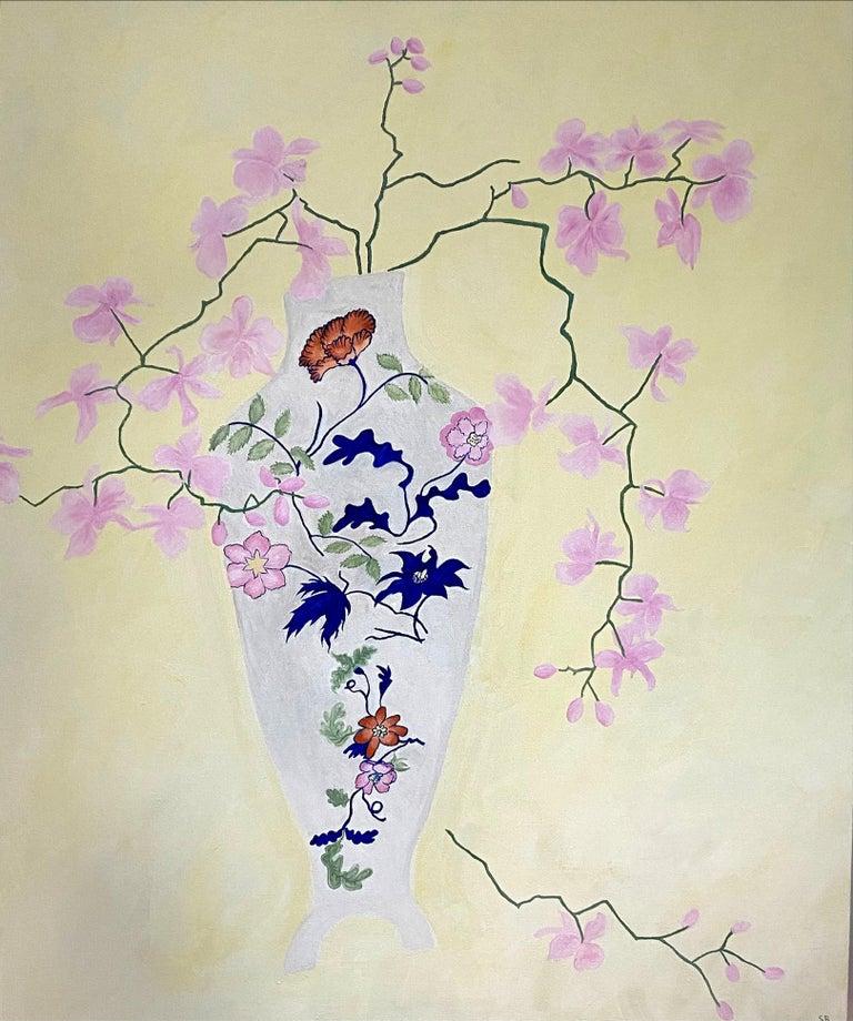 Susan Bleakley Still-Life Painting - Tumbling Down. Contemporary Still Life Oil Painting