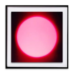 Pink Dark Sun - Black Wood Framed Abstract Photograph - Digital Print- In Stock