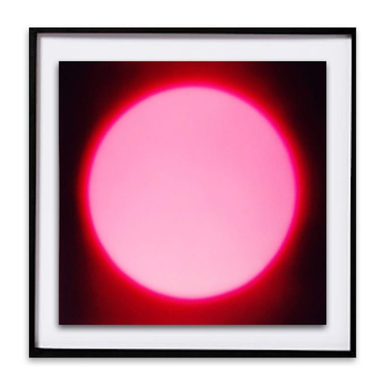Susan Daboll Abstract Print - Pink Dark Sun - Black Wood Framed Abstract Photograph - Digital Print- In Stock