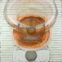 AFTER ARISTOTLE (Green, Peach, Orange, Rose, Abstract,  Encaustic)