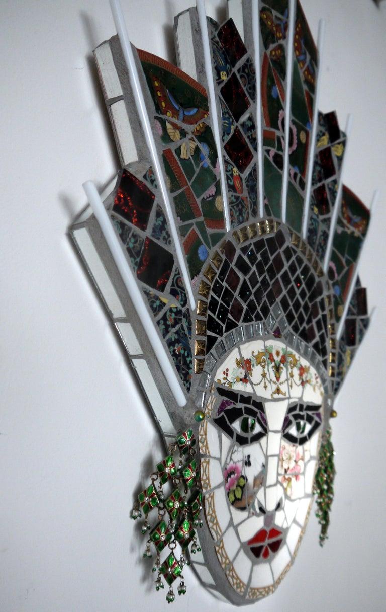 Paloma , Recycled ceramic mosaic by English Artist Susan Elliott - Pop Art Sculpture by Susan Elliott